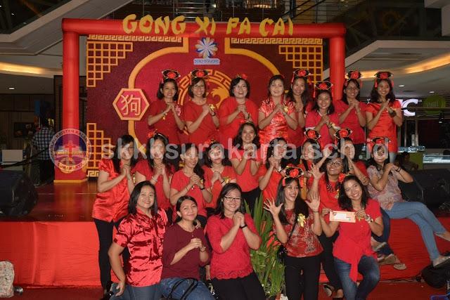 Foto Kegiatan Imlek Siswa KB-TK Kristen Kalam Kudus Surakarta di Solo Square