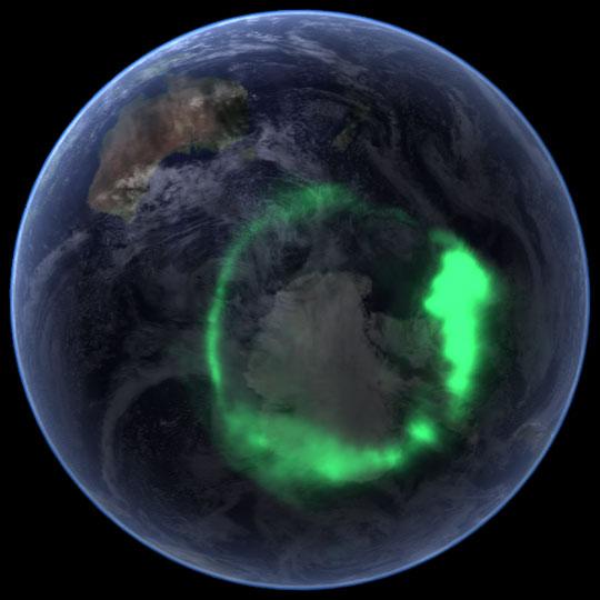 مشهد رائع من المحطة الفضائية الدولية للأرض Aurora_australis_200