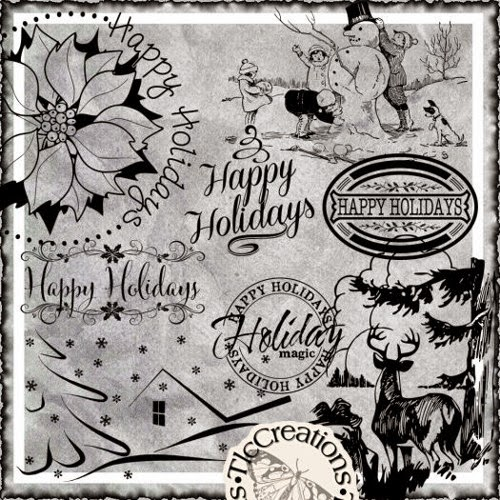 http://www.artfire.com/ext/shop/product_view/CreateWithTLC/10415648/_happy_holiday_season_vintage_image_transfer_and_word_art_set/design/digital_art_/cards