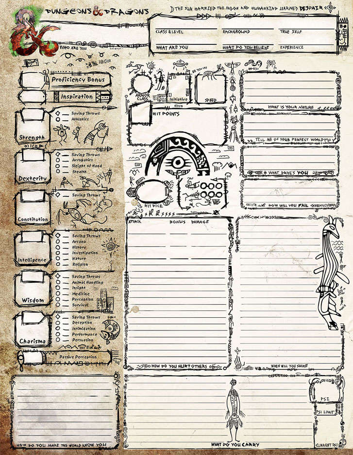 Halls of the Nephilim: Tomb of Annihilation Character Sheet