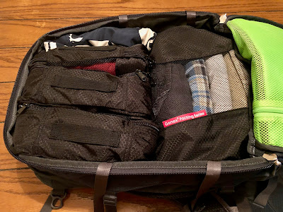 Backpack and packing cubes