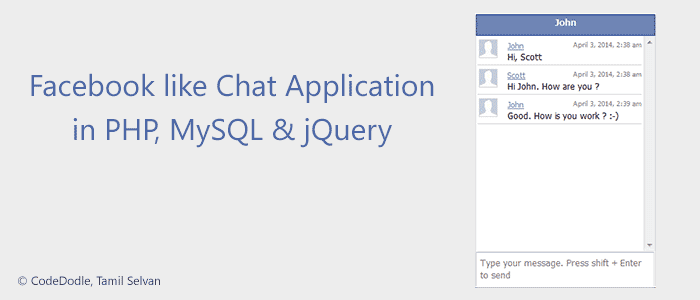 Facebook Like Chat Application Banner