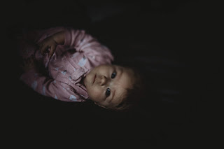 Infant moody lifestyle image captured on the 6DmII while using the freelensing camera technique by Morning Owl Fine Art Photography San Diego CA
