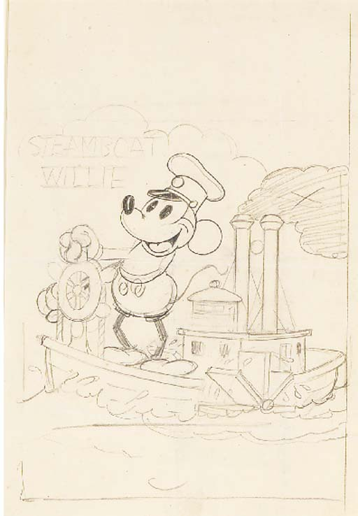 steamboat willie poster design