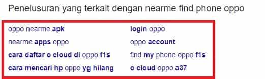 LSI - Suggesting Kata kunci di Google Search Engine