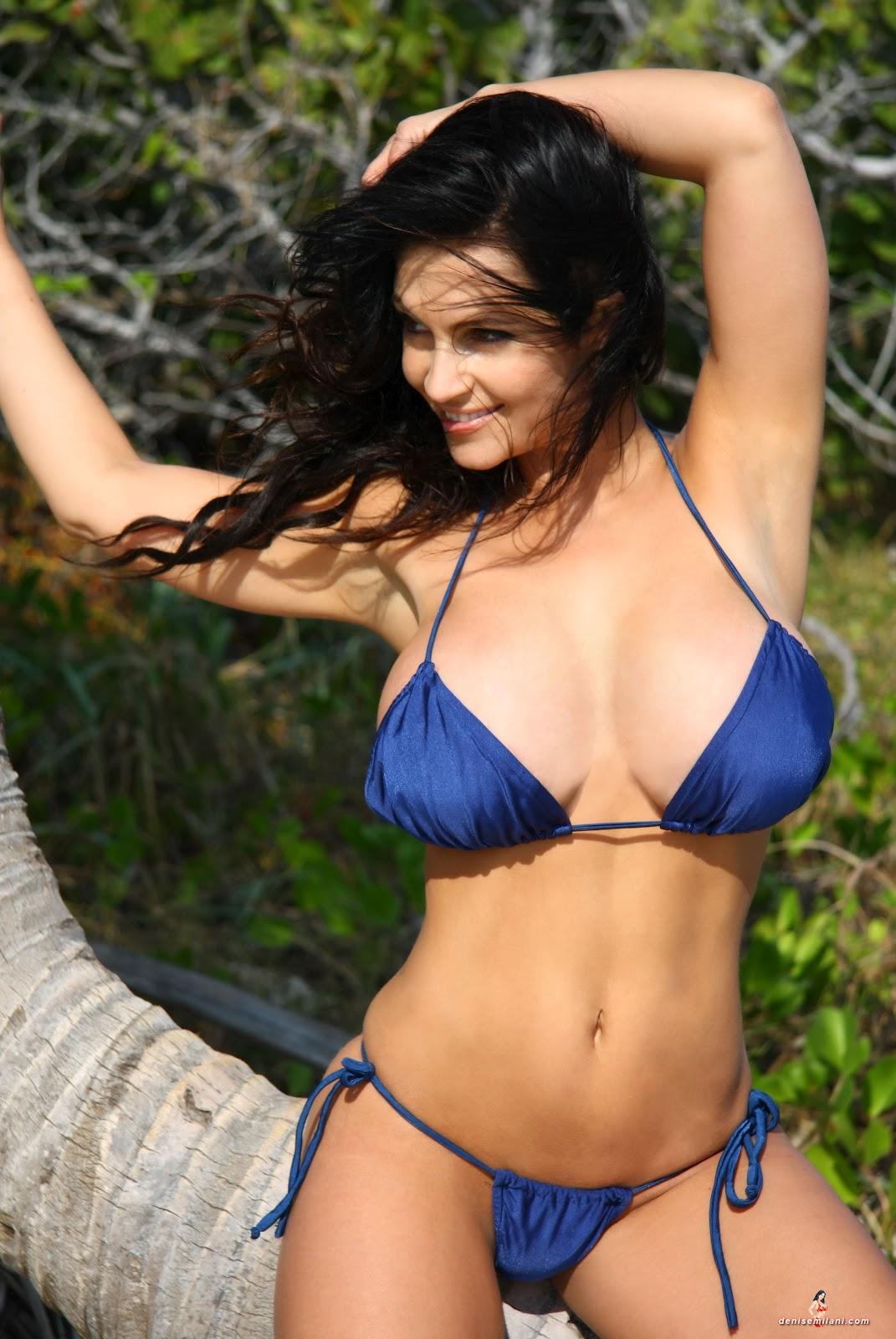 A Denise Milani Image Blog: Denise Milani Blue Bikini