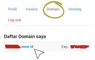 Pilih Nama Domain Yang Disetting