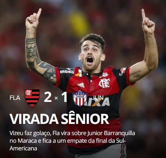 67478b8ba1eed Toni Martins - Todo Mundo lê!  Com emoção! Flamengo sai atrás