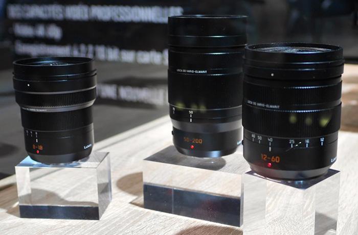 Объективы Panasonic Leica 8-18mm f/2.8-4.0, 12-60mm f/2.8-4 и 50-200mm f/2.8-4.0