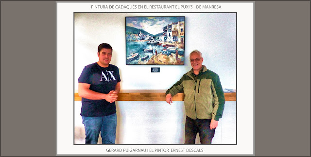 PINTURA-CADAQUÈS-EL PUXI'S-RESTAURANT-MANRESA-RESTAURANTS-CAFETERIES-ART-MARINES-PINTURES-PAISATGES-ARTISTA-PINTOR-ERNEST DESCALS--