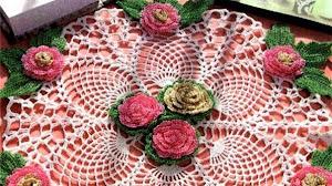 Una artesanía en tu mesa: carpeta floral
