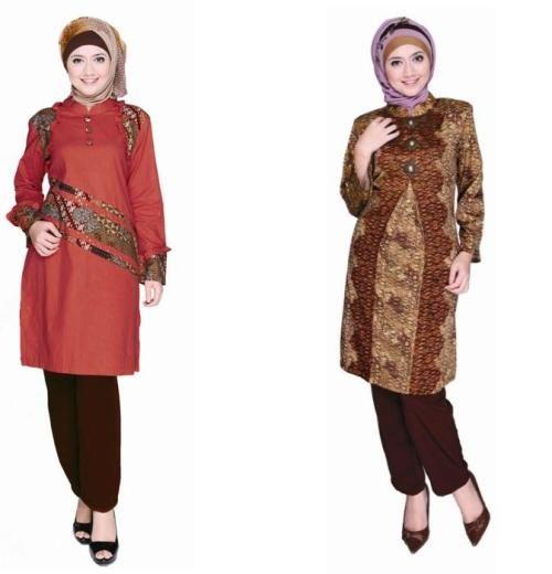 Model Baju Batik Kerja Atasan Muslim: Model Baju Batik Kantor Wanita Terbaru Dan Modern