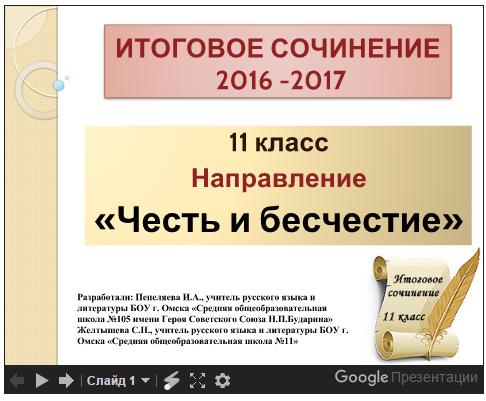 разборного направления итогового сочинения 2016-2017 популярность, качестве актера