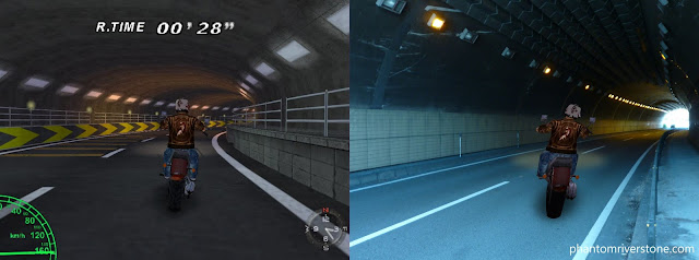 Inside a tunnel: game vs real life.
