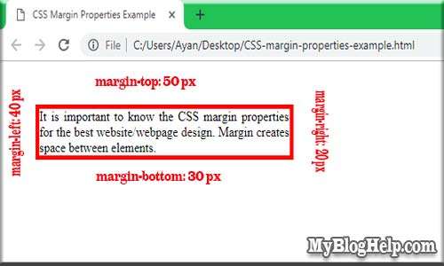 CSS-margin-properties-example