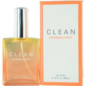 Clean Summer Linen Eau Fraiche Spray for Women by Dlish, 2.14 Ounce