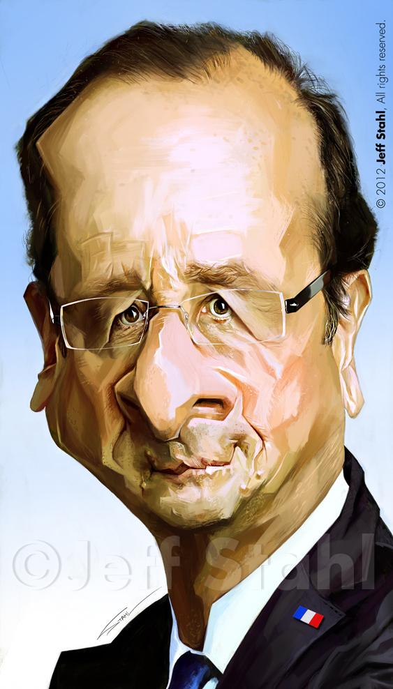 """""""François Hollande"""" por Jeff Stahl"""