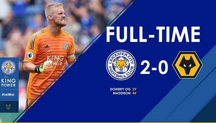 Hasil Leicester City vs Wolverhampton Skor Akhir 2-0 [ Premier League 2018]