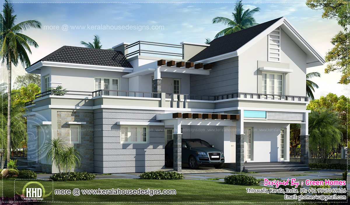 Front Elevation Pergola Design : May kerala home design and floor plans