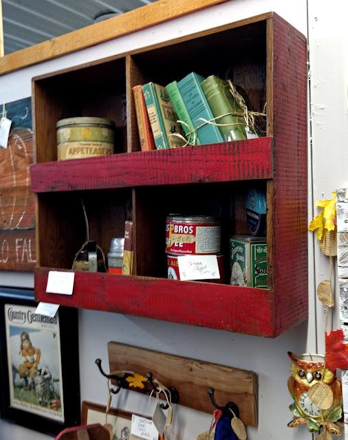 Barnwood Cubby Wall Shelf