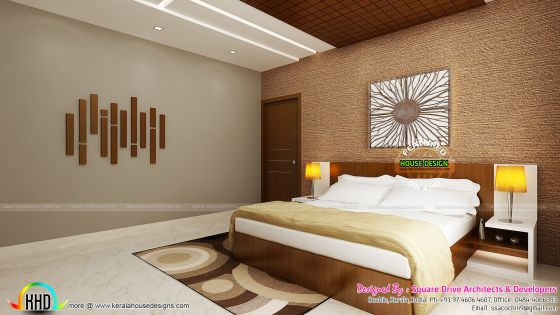 Superb guest bedroom interior