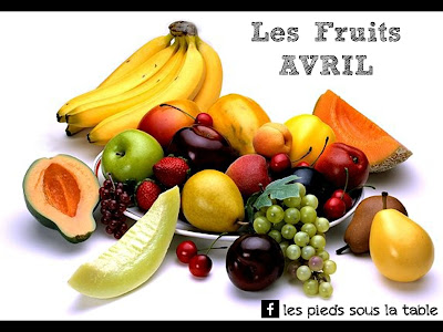 les fruits du mois d'avril