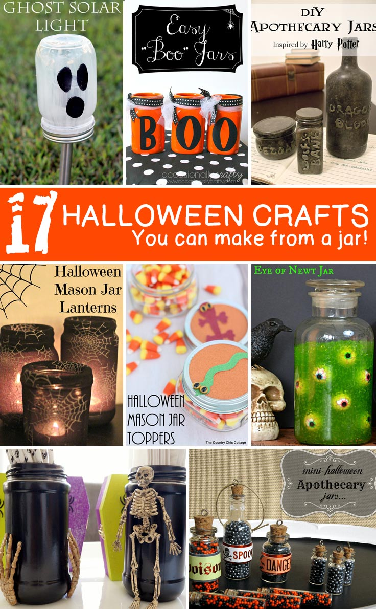 Crafts With Jars Halloween Jar Crafts