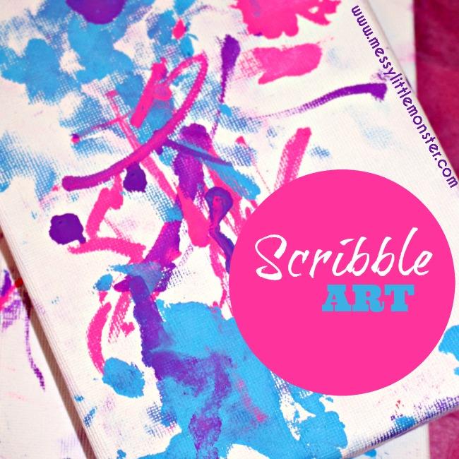 Scribble Drawing Uk : Toddler scribble art messy little monster