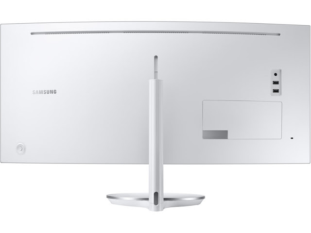 Samsung Quantum Dot Curved Monitor back side