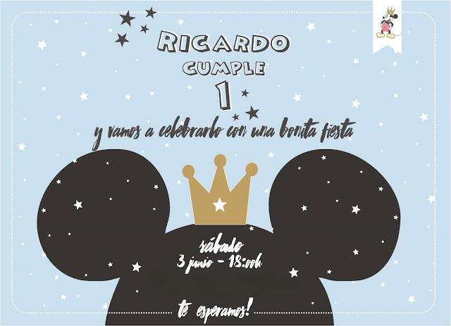 Primer cumpleaños de Ricardo: fiesta de mickey mouse