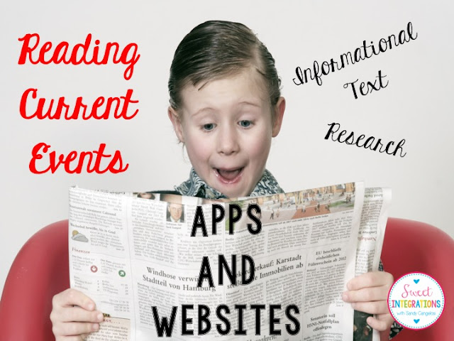 Students can read a variety of current events with the apps and websites I've provided. This is great for studying informational text.