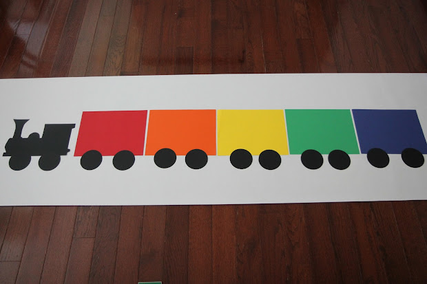 Shape Train Craft For Toddlers - Year of Clean Water
