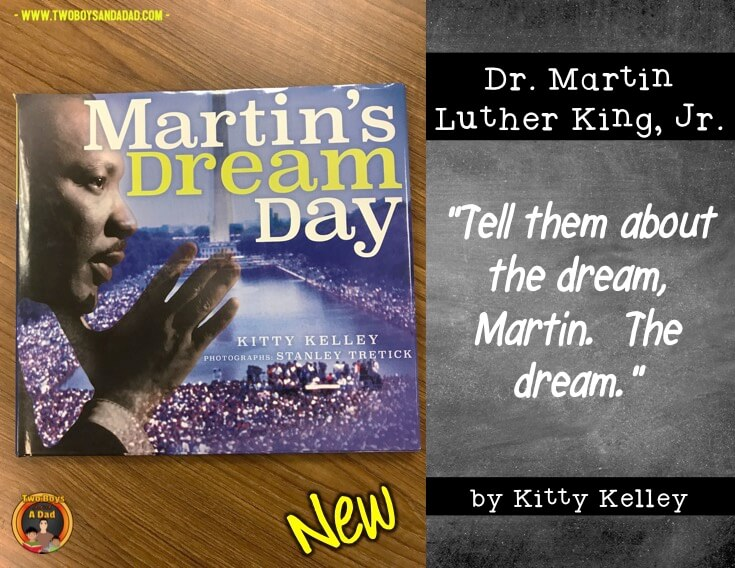 New children's literature book about Martin Luther King's Jr famous speech