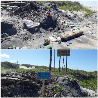 Desafio do lixo na Ilha Comprida, todos podem contribuir com a limpeza das áreas comuns