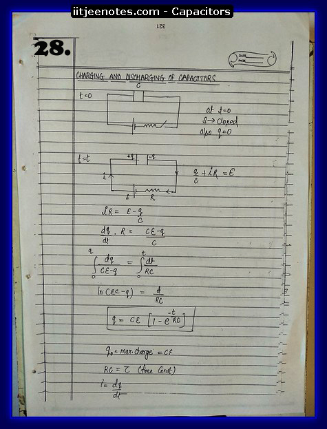 Capacitors notes cbse3