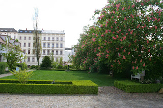 Garten im Grundstück