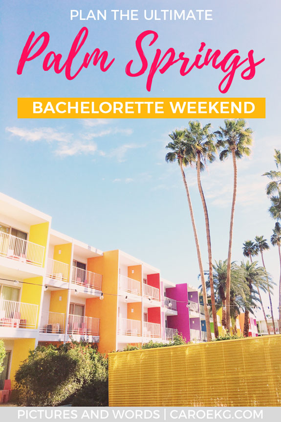 Looking for inspiration for how to plan the perfect Palm Springs bachelorette weekend? Read this guide to help you plan the perfect Palm Springs bachelorette weekend - what to do in Palm Springs, where to stay, what to eat, drink, pack, and more! This guide will give you some awesome bachelorette party ideas to help you plan that perfect Palm Springs girls' trip! #palmsprings #california #bacheloretteparty #bacheloretteideas #bacheloretteweekend