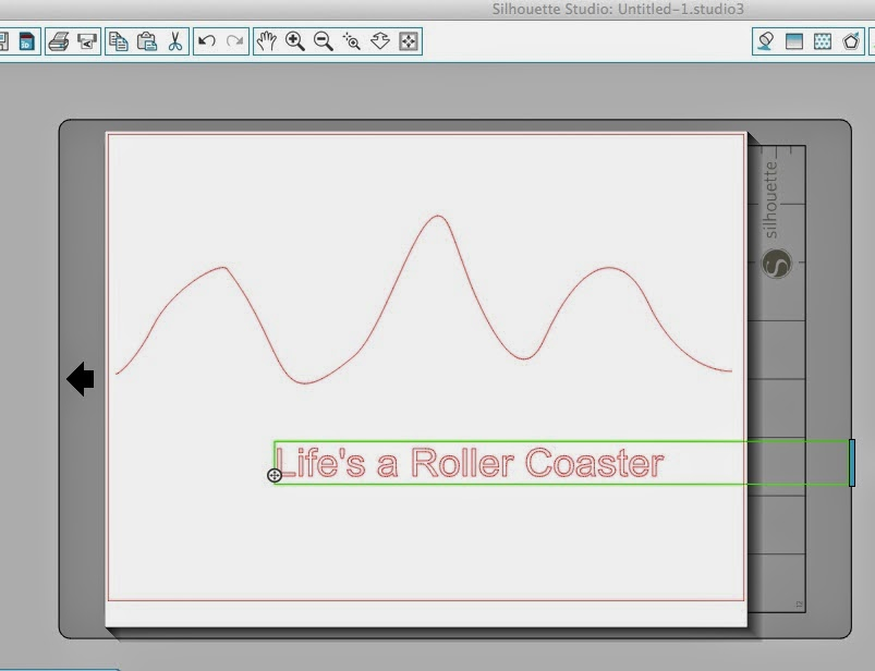 Wavy text, Silhouette Studio, Silhouette tutorial, text, green box