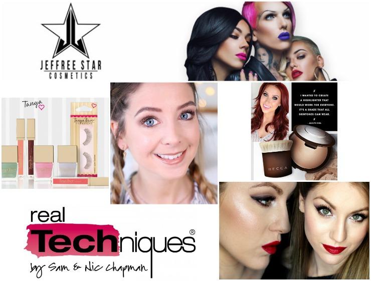marcas de maquillaje de los YouTube