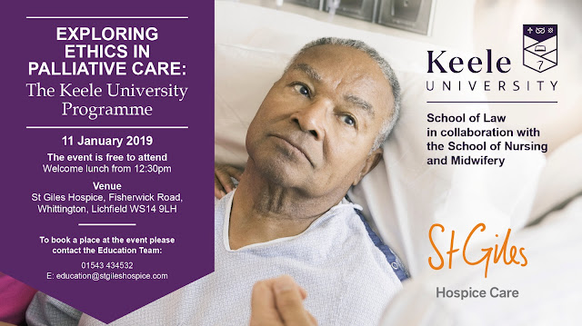 Exploring Ethics in Palliative Care: The Keele University Programme - event poster