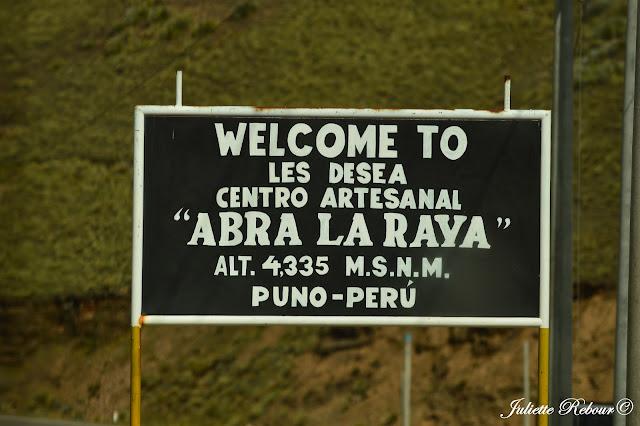 Col d'Alta la Raya, Pérou