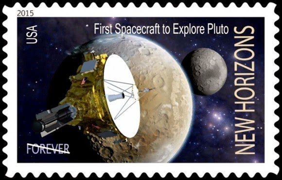 USA FIRST SPACECRAFTTO EXPLORE PLUTO US POSTAGE STAMP