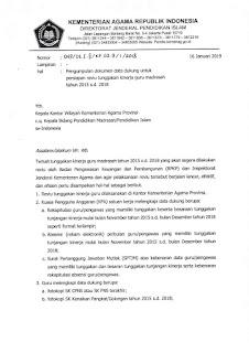 Pengumpulan Dokumen Data Dukung untuk Persiapan Reviu Tunggakan Kinerja Guru Madrasah Tahun 2015 s.d 2019