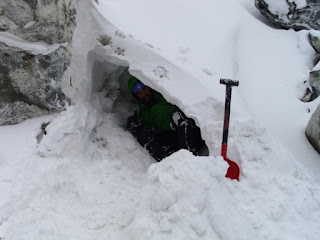 Snow Cave and Snow Shovel