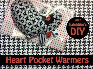 Celebrate!: Valentine's DIY: Heart Pocket Warmers