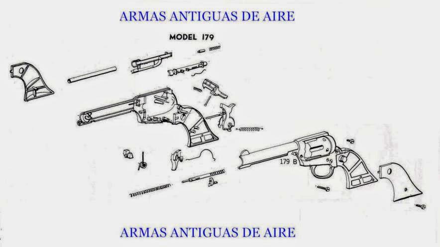 ARMAS ANTIGUAS DE AIRE: PISTOLA DAISY MODELO 179 REVOLVER