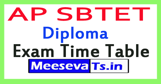 AP SBTET Diploma Exam Time Table 2017