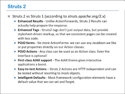 Difference between Struts1 and Struts2 framework