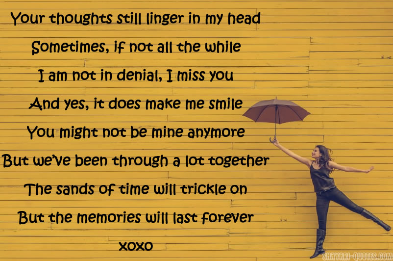 I Miss You Poems For Ex Girlfriend Missing You Quotes For Her 2017
