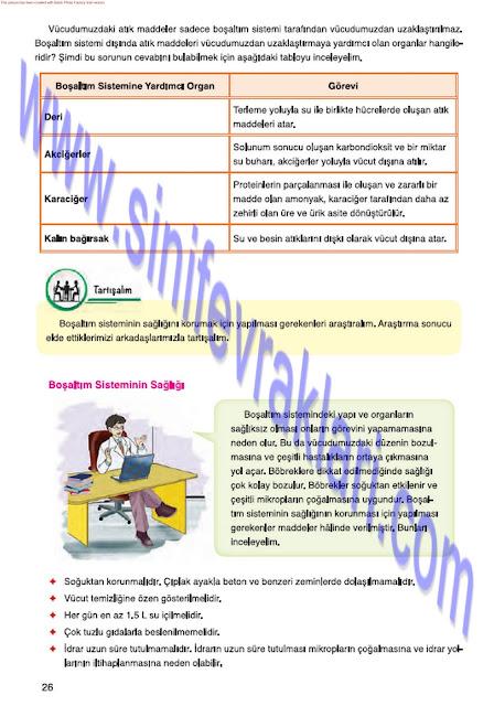 7. Sınıf Fen Bilimleri Ders Kitabı Cevapları Mevsim Yayınları Sayfa 26